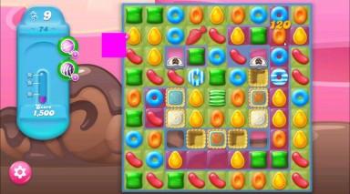 キャンディクラッシュゼリー レベル74 攻略のコツ